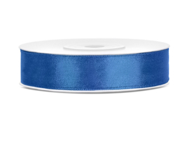 Satijn Lint - Royal Blue - 12 mm - 25 meter