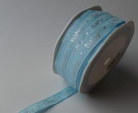 Licht blauw Lint, 12 mm