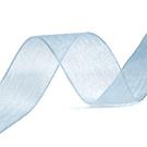 Organza Lint Licht Blauw 10 mm