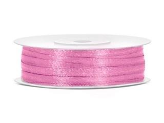 Satijn Lint 3 mm, Roze