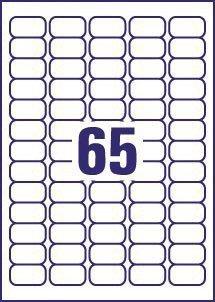 65 Naamstickers 38,1 x 21,2 mm