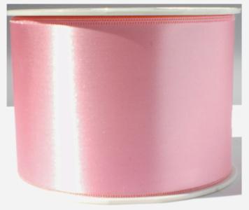 Satijn lint 7 cm breed, Licht roze
