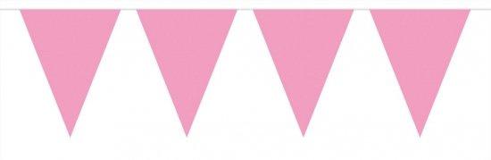 Vlaggenslinger roze 10 meter