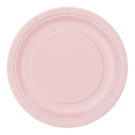 Borden licht roze, 20 stuks, 17,1 cm