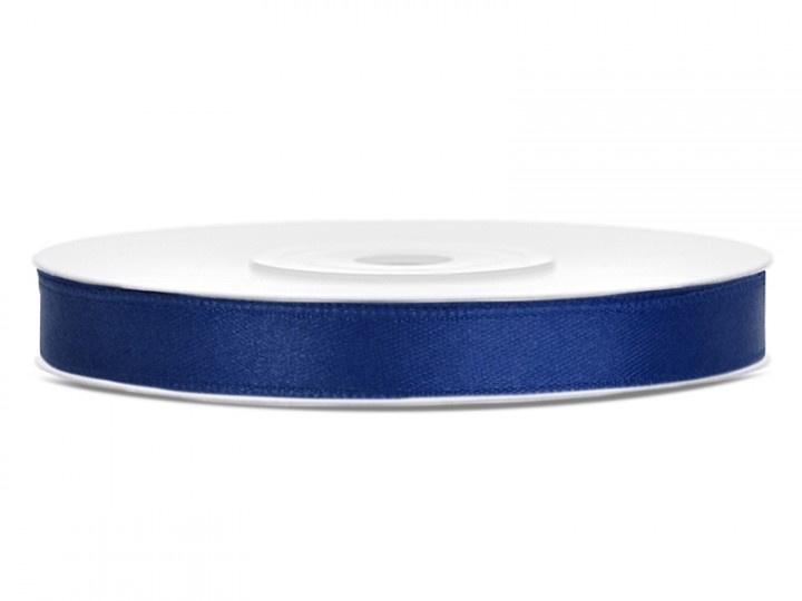 Satijn Blauw in 6 mm breed
