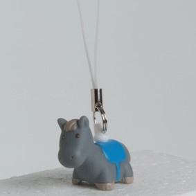 Mini sleutelhanger Paardje blauw