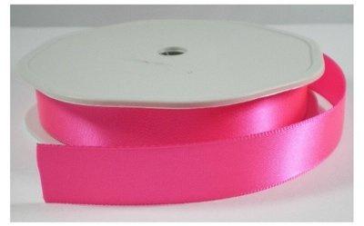 Satijn Lint neon roze, 25 mm breed
