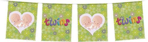 """Vlaggenlijn Tweeling """"Twins"""" 6 meter"""