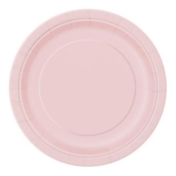 Borden licht roze, 16 stuks, 21,9 cm