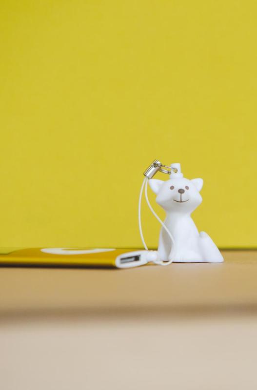 Mini sleutelhanger Cesar de Vos, Atelier Pierre Junior, White
