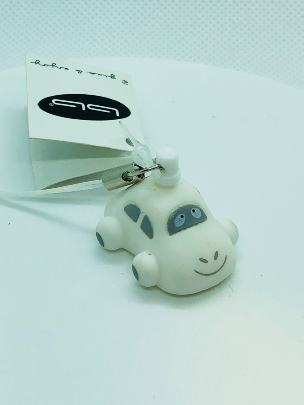 Mini sleutelhanger Autootje Wit