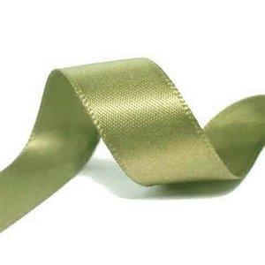 Satijn Lint groen in 6 mm breed