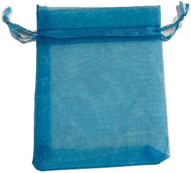Organza Zakje Blauw 10 x 12 cm