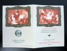 FRANCE Carnet Croix-Rouge / Red Cross Booklet  1962 (ck16/099)