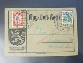 1912 - Semi-Official AIRMAIL / POSTE AERIENNE(x6/022)