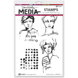 Cling Stamps Positive Women