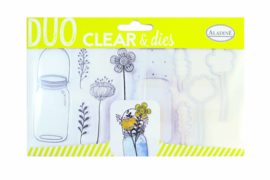 Clear Stamps & Dies Flower Jar