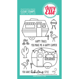"Clear Stamp Set Glamper Campers 4""X6"""