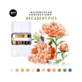 Watercolor Confections Decadent Pies