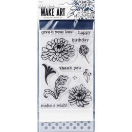 Make Art Stamp, Die & Stencil Set Thank You