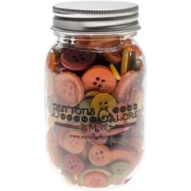Button Mason Jars Harvest