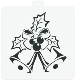 Stencil Christmas Bells