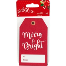 Cozy & Bright Cardstock Tags