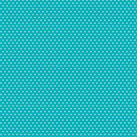 Patterned single-sided teal small dot
