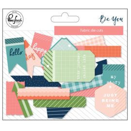 Be You Fabric Die-Cuts 19/Pkg