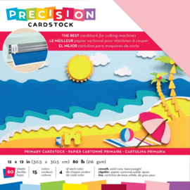 "Precision Cardstock Pack Primary/Smooth 12""X12"""