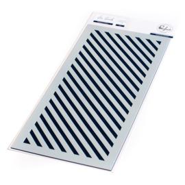 """Diagonal Stripe Stencil 4""""X9"""""""