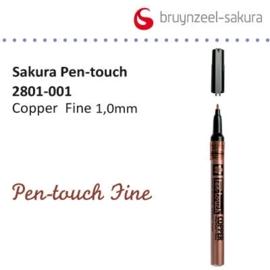 Sakura marker fijn 1.0mm koper