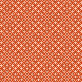 Patterned single-sided orange circle