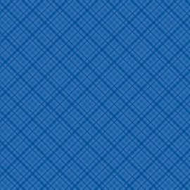 Patterned single-sided d.blue plaid