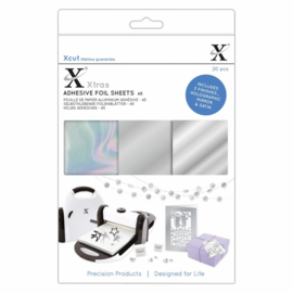 Xtra's A5 Adhesive Foil Sheets Silver