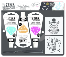 Izink Diamond Glitter Paint Kit Llama