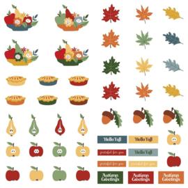 Autumn Greetings Cardstock Die-Cut Sheet