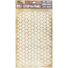 Architextures Adhesive Tall Base Triangle Grid