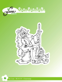 Clear Stamps Funny Cleaning Lady 1