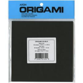Origami Paper Black