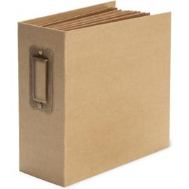 "Kraft Staples Tag & Pocket Album 5.5""X5.5"""