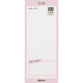 Ballerina Pink Magnetic To Do List