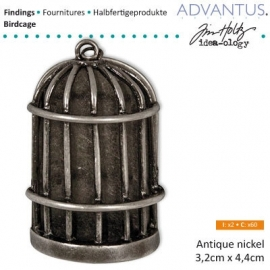 Birdcage antique nicke