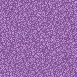 Patterned single-sided purple flower