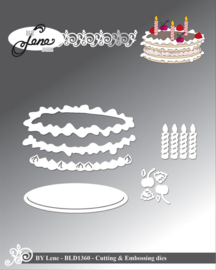 Cutting & Embossing Dies Birthday Cake