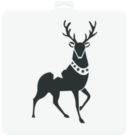 Stencil Reindeer