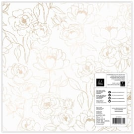"""Care Free Specialty Paper 12""""X12"""" Vellum Champagne Foil"""