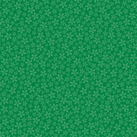 Patterned single-sided d.green flower