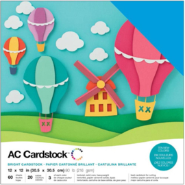 "Variety Cardstock Pack Brights 12""X12"""