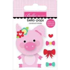 My Candy Girl Bella-Pops 3D Stickers Pretty Piggy
